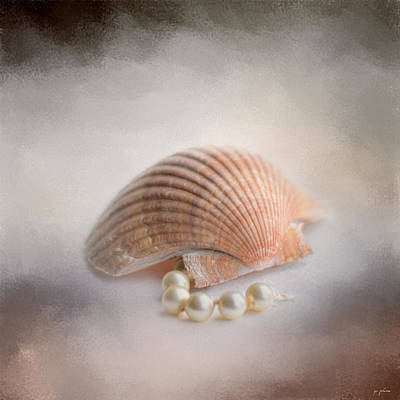 Sea Shell And Pearls Poster