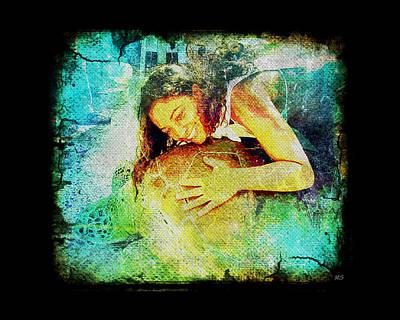 Sea Turtle Love Poster by Absinthe Art By Michelle LeAnn Scott