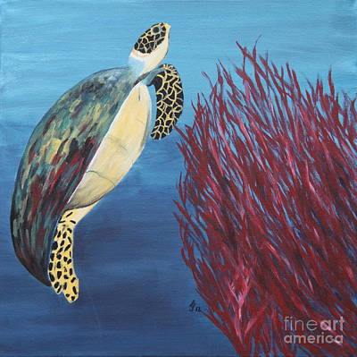 Sea Turtle - Painting Poster by Christiane Schulze Art And Photography