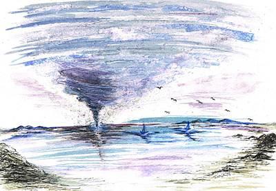 Sea Twister Poster by Teresa White