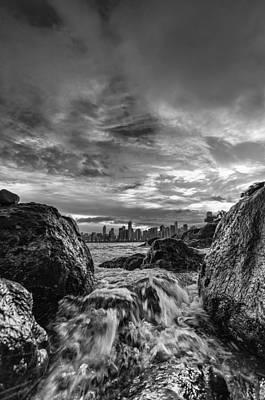 Sea Water Between Rocks Poster