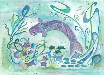 Sea World -painting Poster by Veronica Rickard