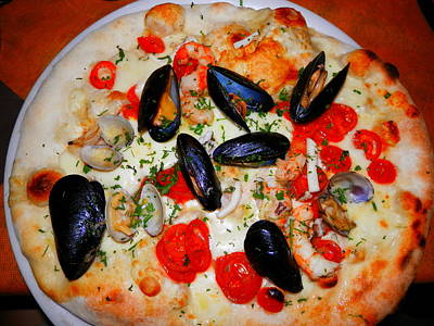 Seafood Pizza Poster