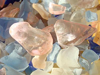 Seaglass Garden Art Prints Pink Blue Orange Sea Glass Poster by Baslee Troutman