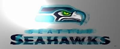 Seahawks 2 - Seattle Poster by Marcello Cicchini