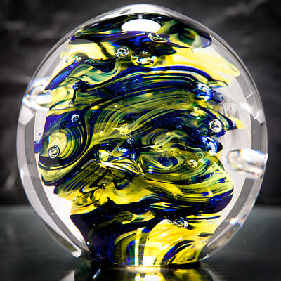 Seahawks Glass -  Solid Glass Sculpture  Poster by David Patterson