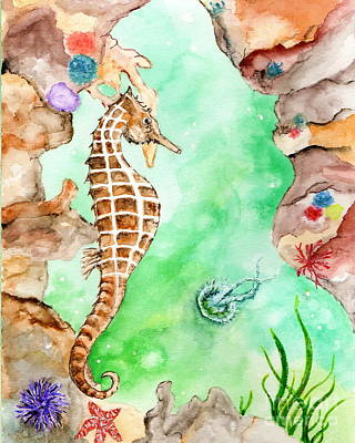 Seahorse Cave Poster