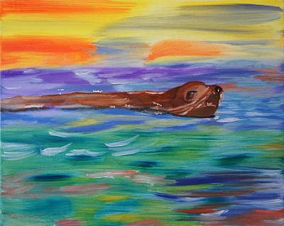 Sunny Sea Lion Poster by Meryl Goudey