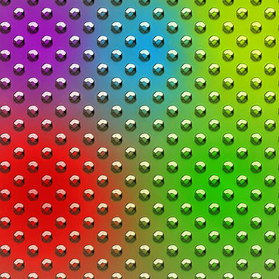 Seamless Metal Texture Rhombus Shapes Coloring Poster