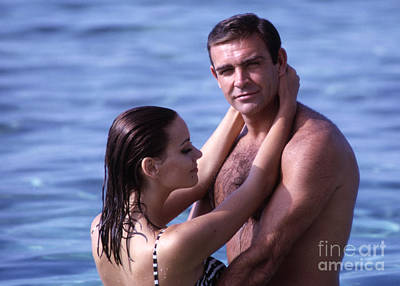 Sean Connery And Claudine Auger On Set Of Thunderball Poster by The Harrington Collection