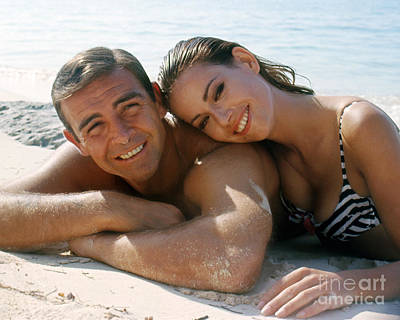 Sean Connery And Claudine Auger  Poster by The Harrington Collection
