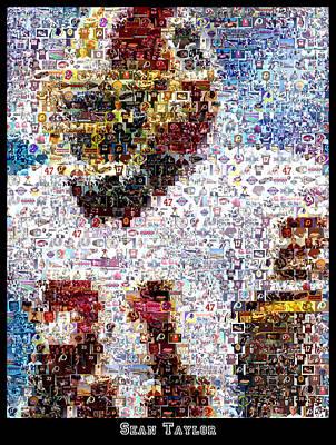 Sean Taylor Mosaic Poster
