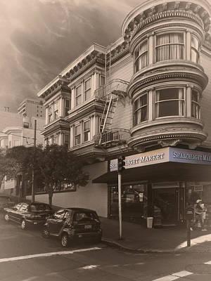 Searchlight Market - San Francisco Poster by Daniel Hagerman