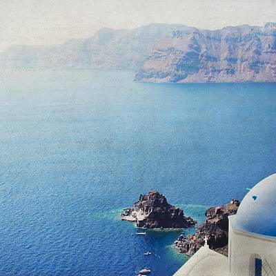 Poster featuring the photograph Seascape - Santorini by Lisa Parrish