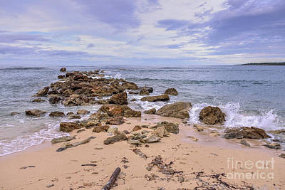 Poster featuring the photograph Seascape With Rocks by Jola Martysz