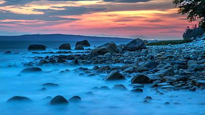 Seashore Sunset Poster