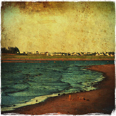Seaside Beach Photograph Coastal Decor Poster by Laura Carter