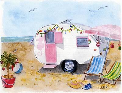Seaside Holiday Poster by Sheryl Heatherly Hawkins