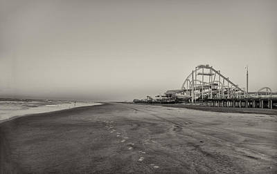 Seaside Roller Coaster - Wildwood New Jersey In Sepia Poster by Bill Cannon