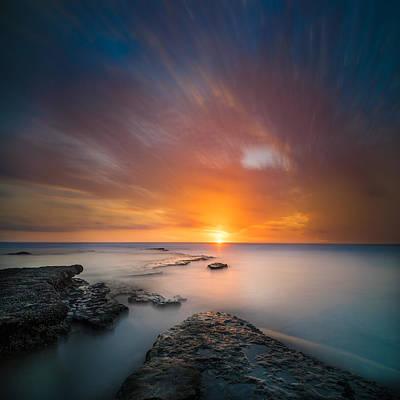 Seaside Sunset 2- Square Poster