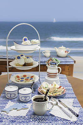 Seaside Tea Party Poster