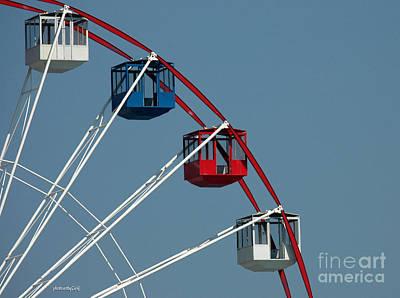 Seaside's Ferris Wheel Poster by Sami Martin