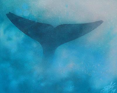 Seasoned Or Blue Whale Fluke Poster