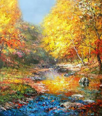 Seasons Of Life Poster by Georgiana Romanovna