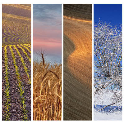 Seasons Of The Palouse Poster by Latah Trail Foundation