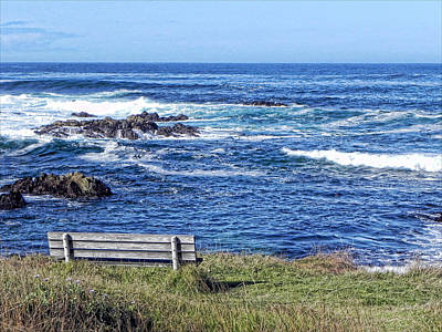 Poster featuring the photograph Seat With A View by Kathy Churchman