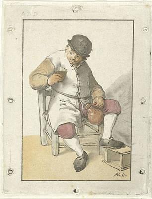 Seated Farmer With Jug, Cornelis Ploos Van Amstel Poster by Cornelis Ploos Van Amstel