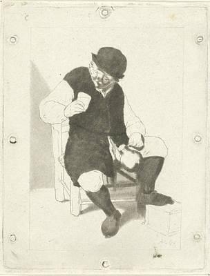 Seated Farmer With Pitcher, Cornelis Ploos Van Amstel Poster