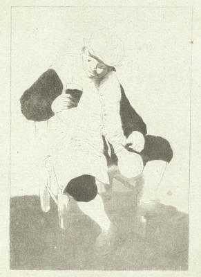Seated Farmer With Pitcher, Cornelis Ploos Van Amstel Poster by Cornelis Ploos Van Amstel And Adriaen Van Ostade