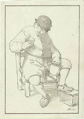 Seated Farmer With Pitcher, Print Maker Cornelis Ploos Van Poster by Cornelis Ploos Van Amstel And Adriaen Van Ostade
