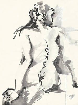Seated Nude Poster by Melinda Dare Benfield