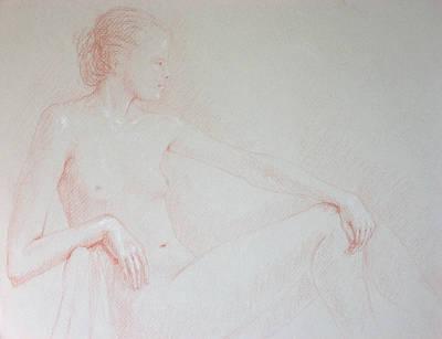 Seated Woman Poster by Deborah Dendler