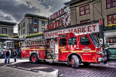 Seattle Fire Engine Poster by Spencer McDonald
