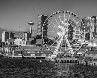 Seattle's Great Wheel Poster by Kyle Wasielewski