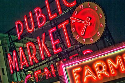 Seattle Pike Street Market Poster by Matthew Ahola