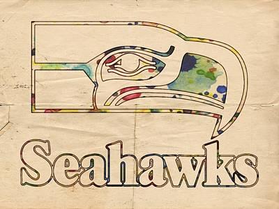 Seattle Seahawks Vintage Poster Poster by Florian Rodarte