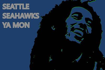 Seattle Seahawks Ya Mon Poster by Joe Hamilton