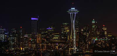 Seattle Skyline 1 Poster
