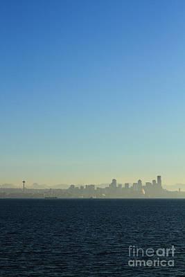 Seattle Skyline Poster by Hans Koepsell