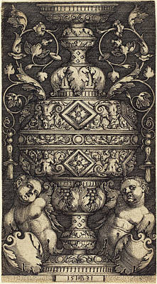 Sebald Beham German, 1500 - 1550, Double Goblet Poster