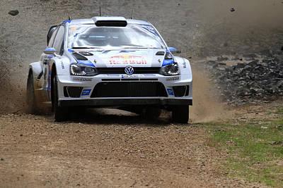 Sebastian Ogier Fia World Rally Championship Australia Poster by Noel Elliot