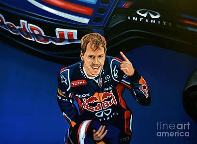 Sebastian Vettel Poster by Paul Meijering