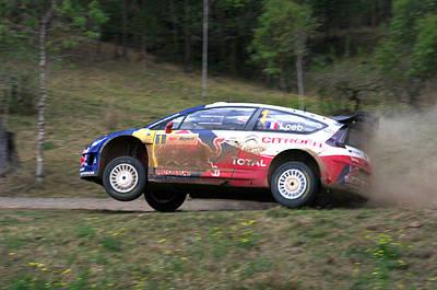 Sebastien Loeb - Repco Rally Australia Poster by Lyle McNamara