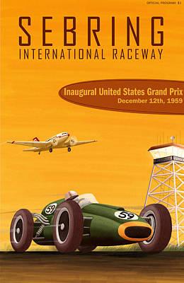 Sebring Usa Grand Prix 1959 Poster by Georgia Fowler