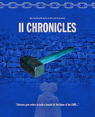 Second Chronicles Books Of The Bible Series Old Testament Minimal Poster Art Number 14 Poster by Design Turnpike