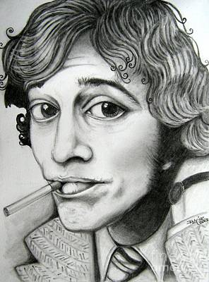 Poster featuring the drawing Robin Gibb by Patrice Torrillo